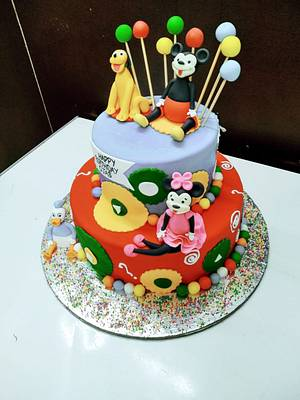 minnie mouse birthday cake for 1 year old | Crust N Cakes - Cake by Kapil Tomar