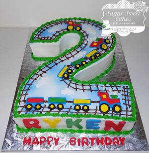 Number 2 Trains - Cake by Sugar Sweet Cakes