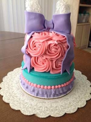 Babby photo shoot mash cake. - Cake by Samantha Corey