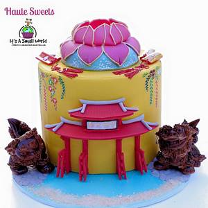 Okinawa cake for It's a Small World Collaboration - Cake by Hiromi Greer