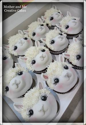 Alpaca Cupcakes  - Cake by Mother and Me Creative Cakes