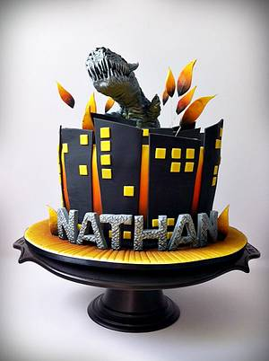 Transformers - Grimlock - Cake by Dream Cakes by Robyn