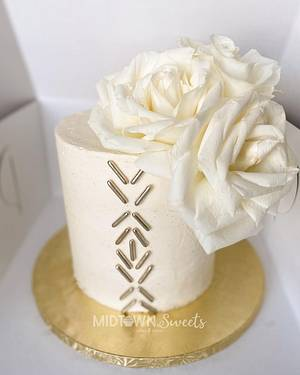 Less is More: 18th Birthday Cake - Cake by Midtown Sweets
