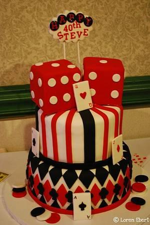 Casino 40th Birthday Cake! - Cake by Loren Ebert