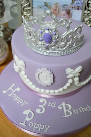 Sofia The First Cake - Cake by Lulu Belles Cupcake Creations