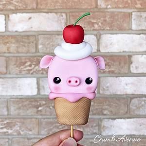Cute Ice Cream Cake Topper - Cake by Crumb Avenue