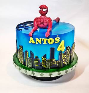Spiderman cake ! - Cake by Iwona Sobejko