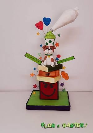 Muy Flor Tower Cake - Cake by FlorCanela310
