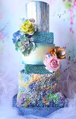 My Mother's Day Wedding Cake Everything Edible.  - Cake by Cake! By Jennifer Riley