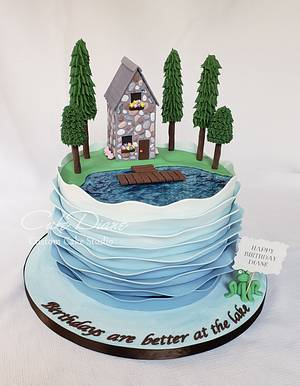 Lake House cake - Cake by Diane