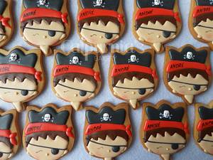 Pirate decorated cookies - Cake by Calpurnia's bakery