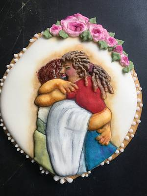 Abrazo de reencuentro  - Cake by Yolanda