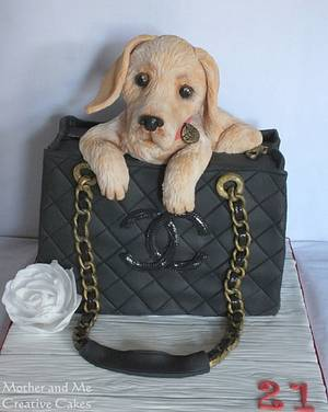 Dog in a Bag Cake - Cake by Mother and Me Creative Cakes
