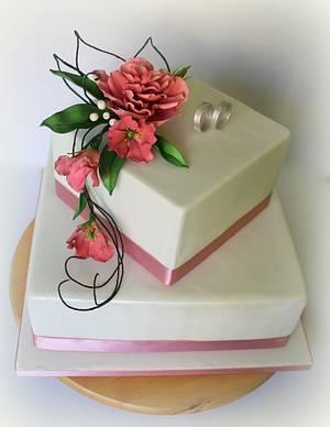 Wedding cake - Cake by Lovely Sugar Art by Katarzyna Duda