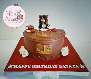 Lady Lawyer Cake👩🏻⚖️ - Cake by Hend Taha-HODZI CAKES
