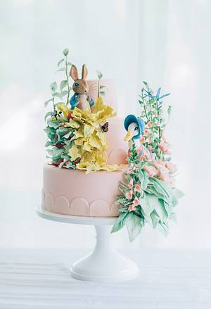 Beatrix Potter Cake with Sugar Figures and Sugar Flowers - Cake by Alex Narramore (The Mischief Maker)