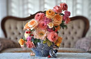 Sugar Flower Still Life - Cake by Sumaiya Omar - The Cake Duchess