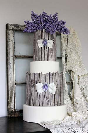 Lilacs & Weathered Wood - Cake by With Love & Confection