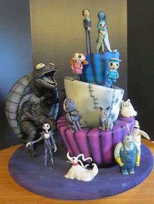 Tim Burton Character Cake - Cake by JulieFreund