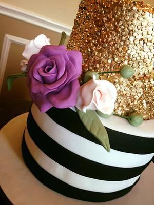 Edible sequins cake  - Cake by Carola Gutierrez