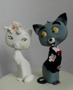 Wedding cats - Cake by Anka