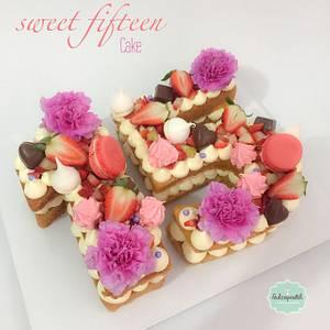 Torta Número Flores - Cake by Dulcepastel.com