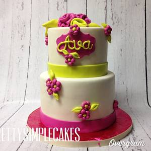 A baby shower cake for a baby girl! - Cake by Erica Parker