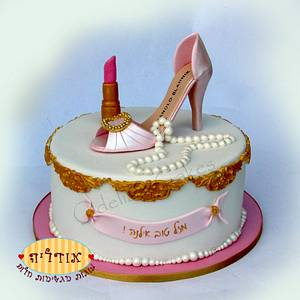 elegant shoe cake - Cake by Odelia Judes