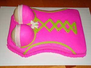 Corset/Bustier Cake - Cake by Kim Leatherwood