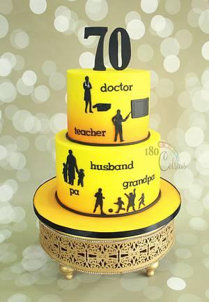 70th Birthday - Cake by Joonie Tan