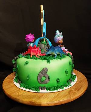 LOL Dolls and Dinosaurs - Cake by Creative Designs By Cass