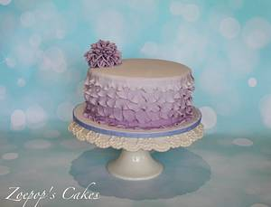 Lilac ombre  - Cake by Zoepop