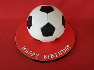 Football cake - Cake by Shoreline Sugar Design by Sarah