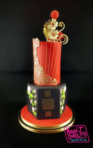 Brides around the world collaboration  - Cake by Novel-T Cakes