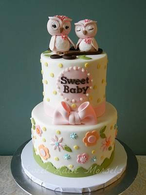 Sweet Owls Baby Shower Cake - Cake by Stephanie
