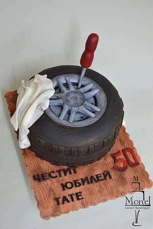 Automobile tyre - Cake by Mina Avramova