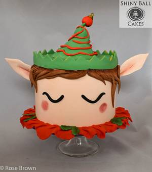 Christmas Elf - Cake by Shiny Ball Cakes & Creations (Rose)
