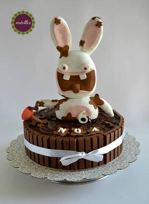 Raving Rabbids - Lapins Cretins - Cake by miettes