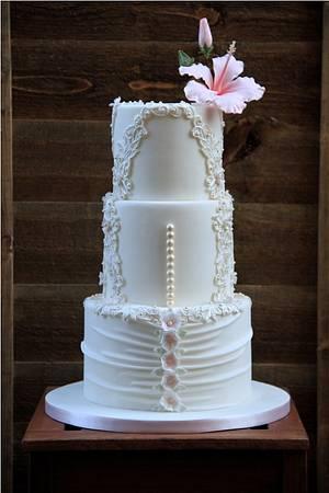 wedding cake - Cake by beth
