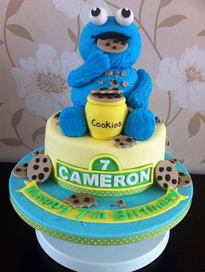 Cookie Monster - Cake by Carrie