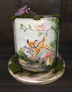 Bambi Disney Cake - Cake by  Sue Deeble