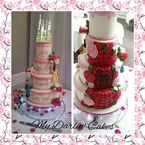 Half fairytale and half spiderman - Cake by My Darlin Cakes