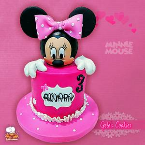 Minnie mouse cake - Cake by Gele's Cookies