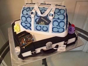 "Coach Purse - ""World Traveler"" - Cake by Kimberly Cerimele"