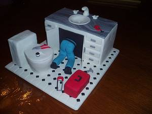 Plumber's birthday cake - Cake by Dittle