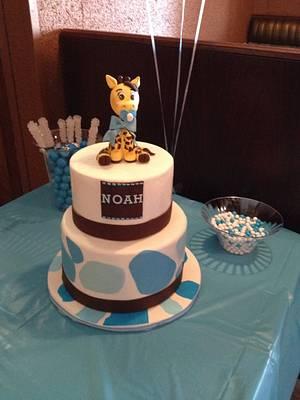 Giraffe baby shower cake - Cake by Erica Parker