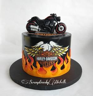 Harley Davidson cake - Cake by Michelle Chan