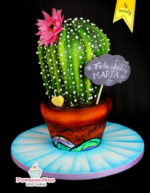 3D Cactus cake  - Cake by Marielly Parra