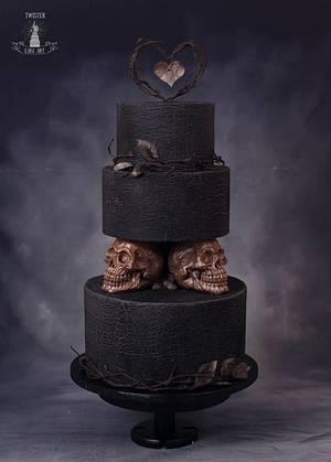 Dark wedding cake - Cake by Twister Cake Art