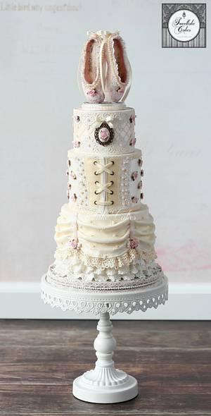 Vintage ballerina cake - Cake by Tamara